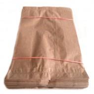 Papīra maisiņi 100gb, 12+5x22cm brūni