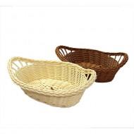 Plastic wicker basket