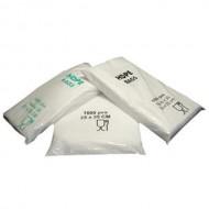 Maisiņi 25x12x45 balti, HDPE, 100 gb
